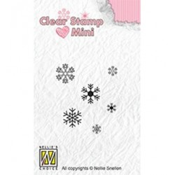 (MAFS011)Nellie's Choice Clear stamps Snowflakes