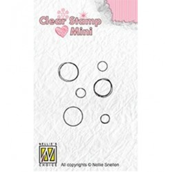 (MAFS012)Nellie's Choice Clear stamps Bubbles