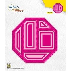 (MFD134)Nellie's Multi frame Block Die Octagon