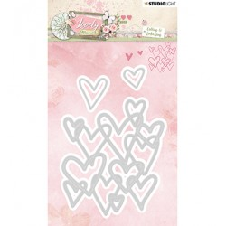 (STENCILLM214)Studio Light Cutting and Embossing Die Lovely Moments nr.214