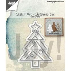 (6002/1312)Cutting Sketch Art - Christmas tree