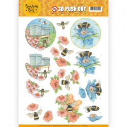(SB10366)3D Pushout - Jeanines Art - Buzzing Bees - Working Bees