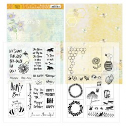 (JAMC1001)Mica Sheets - Jeanines Art - Buzzing Bees