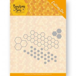 (JAD10074)Dies - Jeanines Art - Buzzing Bees - Hexagon Set