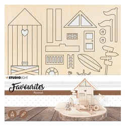 (PWSL05)Wooden Beach House Scenery nr.05