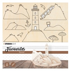(PWSL06)Wooden Lighthouse Scenery nr.06