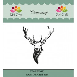 (STAMPL085)Dixi Craft Reindeer Head Clear Stamp