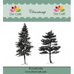 (STAMPL086)Dixi Craft Trees Clear Stamp