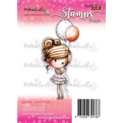 (PD7808)Polkadoodles Winnie Partytime Clear Stamp