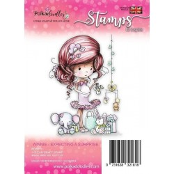 (PD7811)Polkadoodles Winnie Expecting a Suprise Clear Stamp