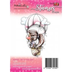 (PD7814)Polkadoodles Winnie Sky's the Limit Clear Stamp