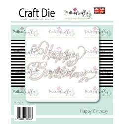 (PD7553)Polkadoodles Happy Birthday Dies