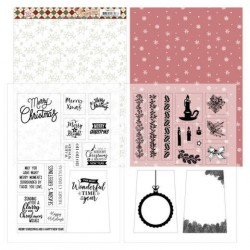 (PMMC1002)Mica Sheets - Precious Marieke - Warm Christmas Feelings