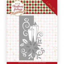 (PM10159)Dies - Precious Marieke - Warm Christmas Feelings - Candle Edge