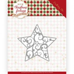 (PM10163)Dies - Precious Marieke - Warm Christmas Feelings - Swirl Star
