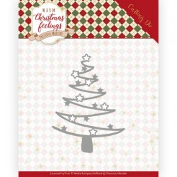 (PM10164)Dies - Precious Marieke - Warm Christmas Feelings - Star Tree