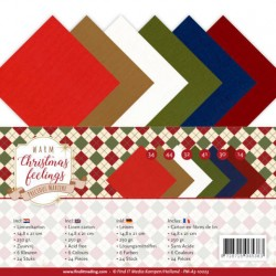 (PM-A5-10023)Linnenpakket - A5 - Precious Marieke - Warm Christmas Feelings