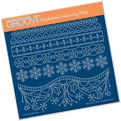 (GRO-CH-41278-03)Groovi Plate A5 TINA'S A HEARTY CHRISTMAS