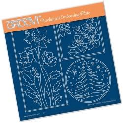 (GRO-CH-41280-03)Groovi Plate A5 TINA'S ROUND TREE WINDOW