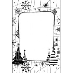 Embossing Folders snow tree (CTFD 4027)