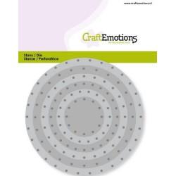 (115633/0831)CraftEmotions Die - circles vintage - rivets Card