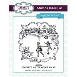 (UMS886)Stamps To Die For - Felicitys's Winter Wonderland