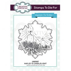 (UMS887)Stamps To Die For - Hayley's Candlelight