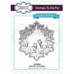 (UMS888)Stamps To Die For - Hayley's Foxes