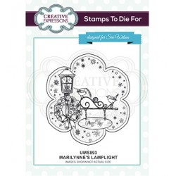(UMS893)Stamps To Die For - Marilynne's Lamplight