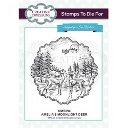 (UMS894)Stamps To Die For - Amelia's Moonlight Deer
