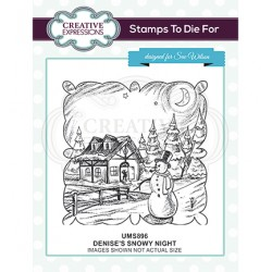 (UMS896)Stamps To Die For - Denise's Snowy Night