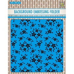 (EEB019)Nellie`s Choice Emb.folder Background Small flowers