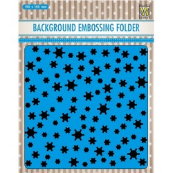 (EEB021)Nellie`s Choice Emb.folder Background Snowflakes