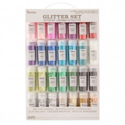 (30029690)Darice • Glitter set 29 stuks combination