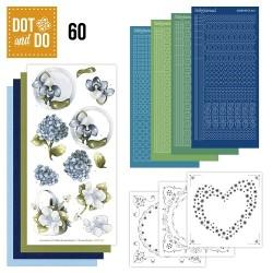 (DODO060)Dot and Do 60 - Blauwe bloemen