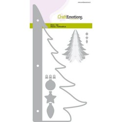 (115633/0514)CraftEmotions Die - Christmas tree decoration 3D