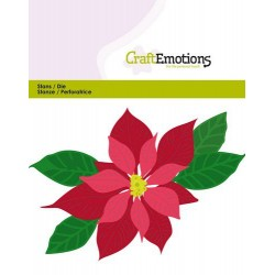 (115633/0432)CraftEmotions Die - Poinsettia