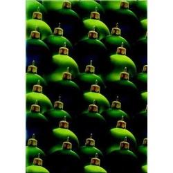 Pergamano Vellum Christmas balls green(62524)