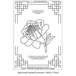 (TP3578E)PCA® - EasyEmboss Torch Ginger Flower