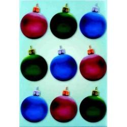 Pergamano Vellum Christmas balls tricolour (62525)