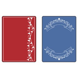 (657982)Text. Imp. Emboss. Folders 2PK - Mini Banners Set