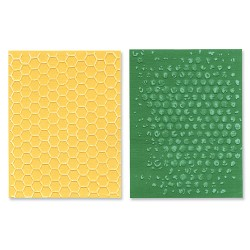 (657846)Texture Fades Embos.Folders 2PK - Bubble & Honeycomb Set