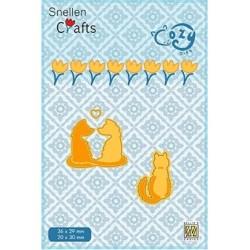 (SCCOD006)Snellen Crafts Cozy dies: Pussy-cats