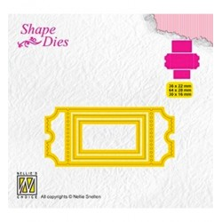(SD170)Nellie's Shape Dies Ticket & tags: ticket-1
