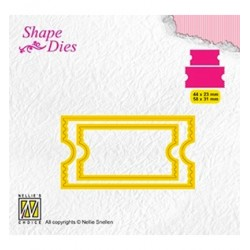 (SD171)Nellie's Shape Dies Ticket & tags: ticket-2