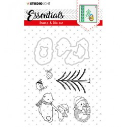 (BASICSDC25)Studio light Stamp & Die Cut Essentials Christmas nr.25