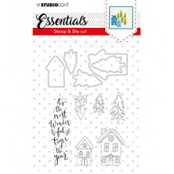 (BASICSDC26)Studio light Stamp & Die Cut Essentials Christmas nr.26