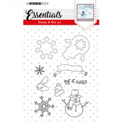 (BASICSDC27)Studio light Stamp & Die Cut Essentials Christmas nr.27