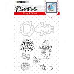 (BASICSDC28)Studio light Stamp & Die Cut Essentials Christmas nr.28