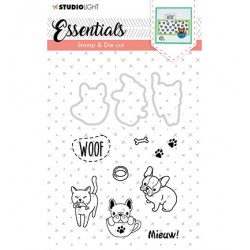 (BASICSDC30)Studio light Stamp & Die Cut Essentials Animals nr 30